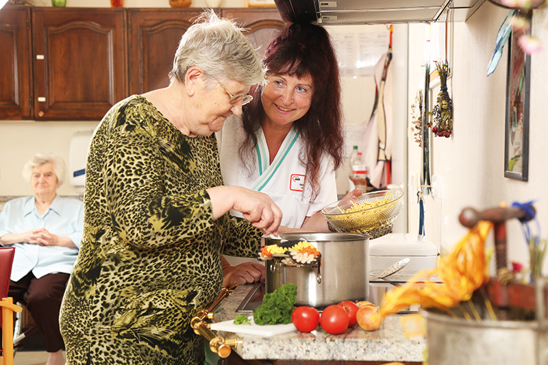 Gemeinsames Kochen  Unsere Betreuung
